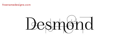 Decorated Name Tattoo Designs Desmond Free Lettering