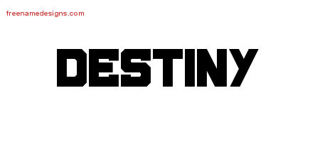 Titling Name Tattoo Designs Destiny Free Printout