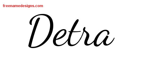 Lively Script Name Tattoo Designs Detra Free Printout