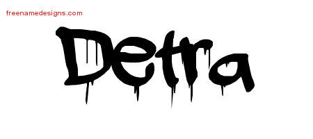 Graffiti Name Tattoo Designs Detra Free Lettering