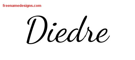 Lively Script Name Tattoo Designs Diedre Free Printout