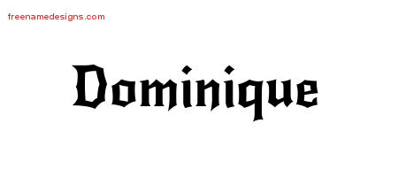 Gothic Name Tattoo Designs Dominique Free Graphic