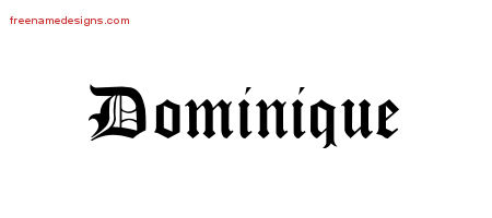 Blackletter Name Tattoo Designs Dominique Graphic Download