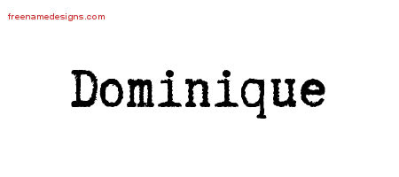 Typewriter Name Tattoo Designs Dominique Free Download
