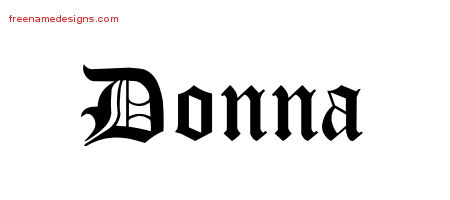 Blackletter Name Tattoo Designs Donna Graphic Download