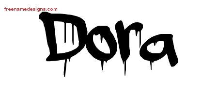 Graffiti Name Tattoo Designs Dora Free Lettering