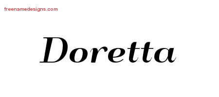 Art Deco Name Tattoo Designs Doretta Printable