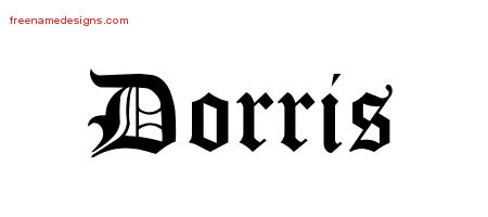 Blackletter Name Tattoo Designs Dorris Graphic Download