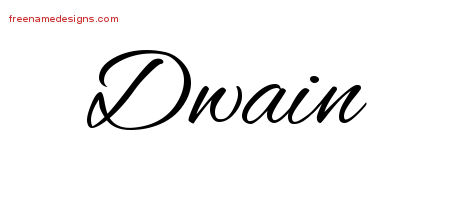 Cursive Name Tattoo Designs Dwain Free Graphic