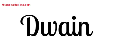 Handwritten Name Tattoo Designs Dwain Free Printout