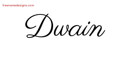 Classic Name Tattoo Designs Dwain Printable