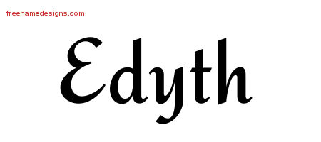 Calligraphic Stylish Name Tattoo Designs Edyth Download Free
