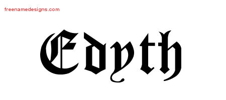 Blackletter Name Tattoo Designs Edyth Graphic Download