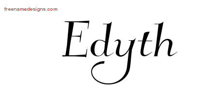 Elegant Name Tattoo Designs Edyth Free Graphic
