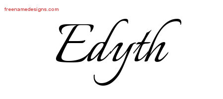 Calligraphic Name Tattoo Designs Edyth Download Free