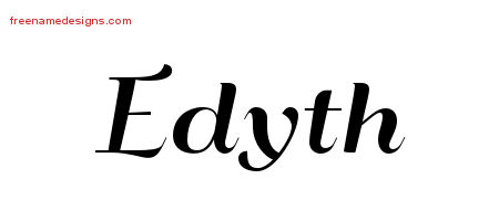 Art Deco Name Tattoo Designs Edyth Printable