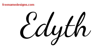 Lively Script Name Tattoo Designs Edyth Free Printout