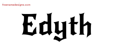 Gothic Name Tattoo Designs Edyth Free Graphic