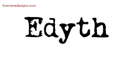 Vintage Writer Name Tattoo Designs Edyth Free Lettering