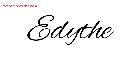 Cursive Name Tattoo Designs Edythe Download Free