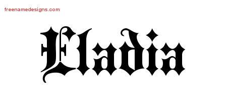 Old English Name Tattoo Designs Eladia Free