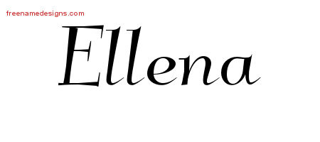 Elegant Name Tattoo Designs Ellena Free Graphic