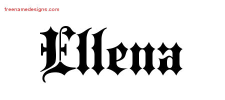 Old English Name Tattoo Designs Ellena Free