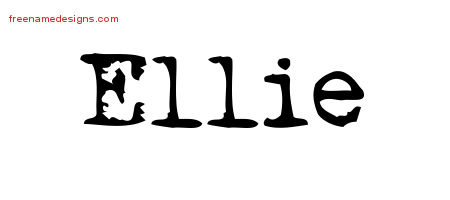 The Name Ellie In Cursive