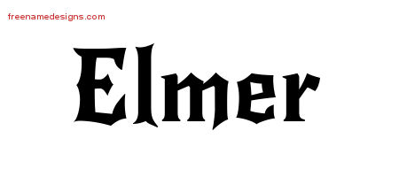 Gothic Name Tattoo Designs Elmer Download Free