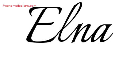 Calligraphic Name Tattoo Designs Elna Download Free