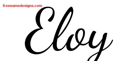 Lively Script Name Tattoo Designs Eloy Free Download