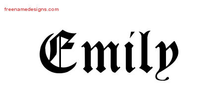 emily Archives - Free Name Designs