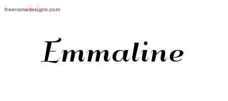 Art Deco Name Tattoo Designs Emmaline Printable