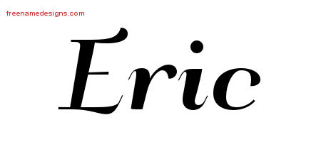 Art Deco Name Tattoo Designs Eric Graphic Download