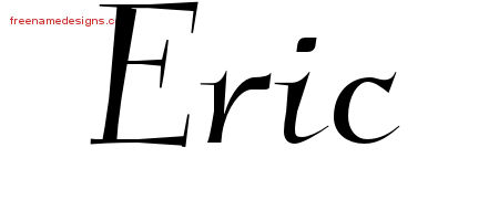 Elegant Name Tattoo Designs Eric Free Graphic