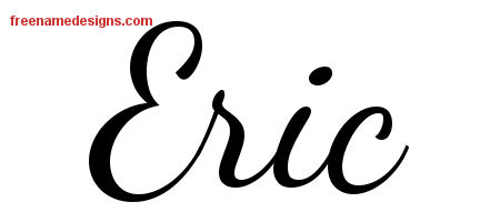 Lively Script Name Tattoo Designs Eric Free Download