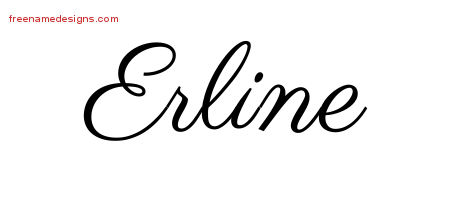 Classic Name Tattoo Designs Erline Graphic Download