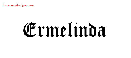 Blackletter Name Tattoo Designs Ermelinda Graphic Download