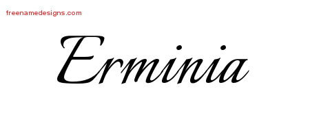 Calligraphic Name Tattoo Designs Erminia Download Free