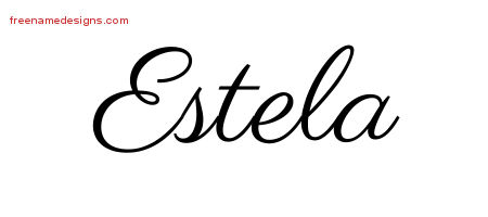 estela classic name tattoo designs