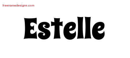 Groovy Name Tattoo Designs Estelle Free Lettering