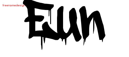Graffiti Name Tattoo Designs Eun Free Lettering