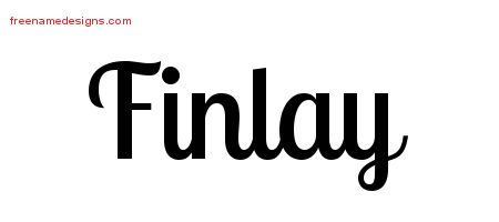 Handwritten Name Tattoo Designs Finlay Free Printout