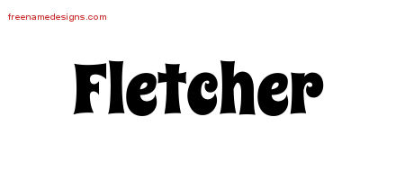 Groovy Name Tattoo Designs Fletcher Free
