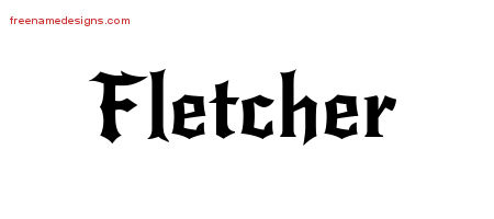 Gothic Name Tattoo Designs Fletcher Download Free