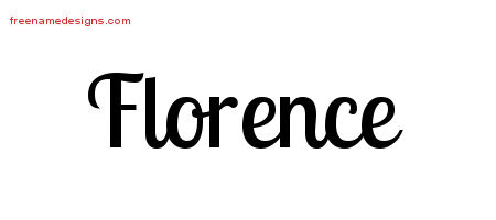 Handwritten Name Tattoo Designs Florence Free Download
