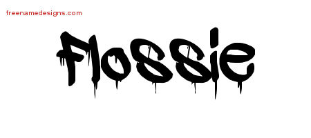 Graffiti Name Tattoo Designs Flossie Free Lettering