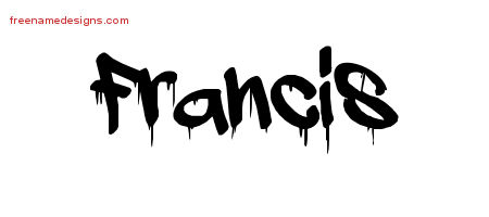 Graffiti Name Tattoo Designs Francis Free Lettering