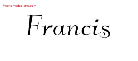 Elegant Name Tattoo Designs Francis Free Graphic