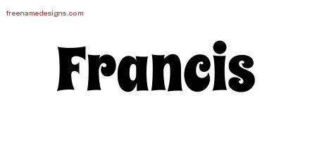 Groovy Name Tattoo Designs Francis Free Lettering
